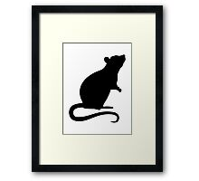 Rat mouse Framed Print