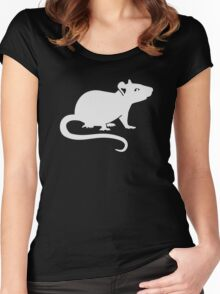 White rat Women's Fitted Scoop T-Shirt