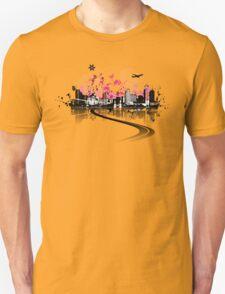 Cityscape background, urban art Unisex T-Shirt