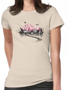 Cityscape background, urban art Womens Fitted T-Shirt