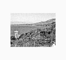 Agropoli: landscape with sea and tower Unisex T-Shirt
