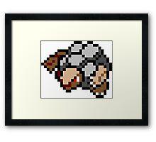 Pokemon 8-Bit Pixel Golem 076 Framed Print