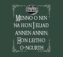 Tauriel's Prayer by tonksiford