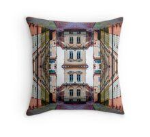 Cozy Old Town Art Throw Pillow