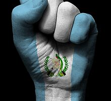 Flag of Guatemala on a Raised Clenched Fist  by Jeff Bartels