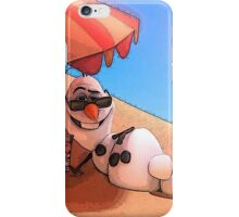 Olaf at the sea iPhone Case/Skin