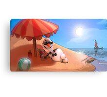 Olaf at the sea Canvas Print