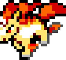 Pokemon 8-Bit Pixel Rapidash 078 by slr06002