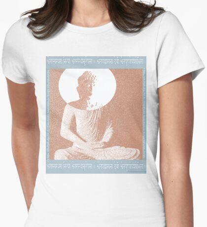 Buddha 1 Womens Fitted T-Shirt