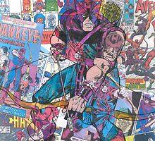 Vintage Comic Hawkeye by Daveseedhouse