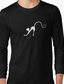 White cat in night Long Sleeve T-Shirt