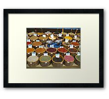 Scales and Spices Framed Print