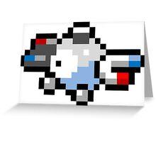 Pokemon 8-Bit Pixel Magnemite 081 Greeting Card