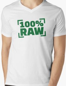 100% Raw food Mens V-Neck T-Shirt