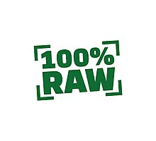 100% Raw food Photographic Print