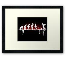 Evolution: Zombie Framed Print