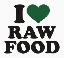 I love raw food Kids Tee