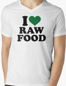 I love raw food Mens V-Neck T-Shirt