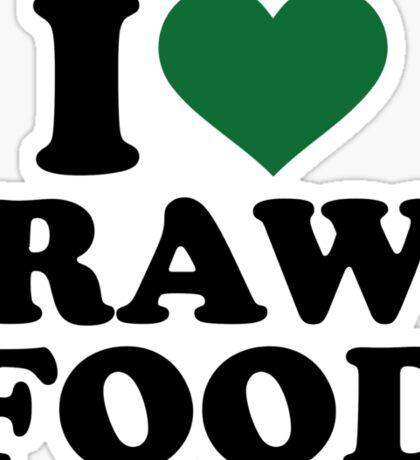 I love raw food Sticker