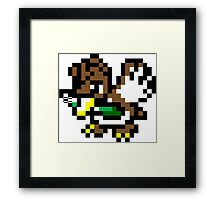 Pokemon 8-Bit Pixel Farfetch'd 083 Framed Print