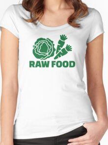 Raw food Women's Fitted Scoop T-Shirt