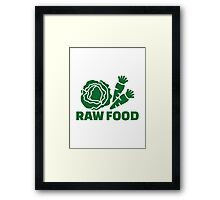 Raw food Framed Print