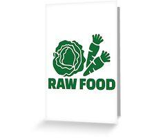 Raw food Greeting Card