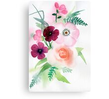 beautiful illustration of Hand Painted flower Wild  Canvas Print