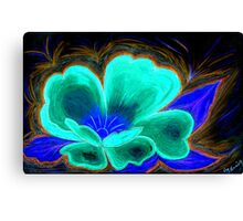Red Flower in Pastels in the Negative Canvas Print