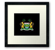 Coat of arms of Sierra Leone Framed Print
