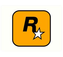 Rockstar Games Logo  Art Print