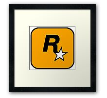 Rockstar Games Logo  Framed Print