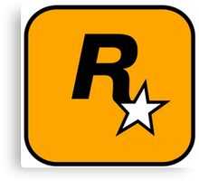Rockstar Games Logo  Canvas Print