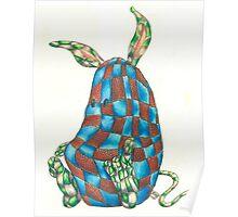 Tartan Bunny Poster