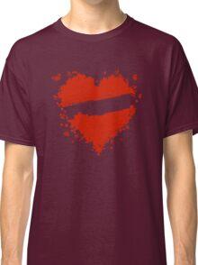 Floral heart shape Classic T-Shirt