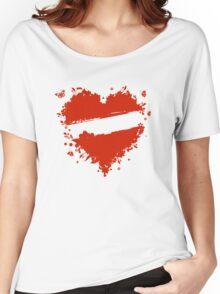 Floral heart shape Women's Relaxed Fit T-Shirt