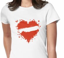Floral heart shape Womens Fitted T-Shirt