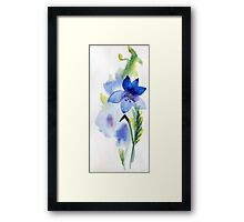 beautiful illustration of Hand Painted flower Wild  Framed Print