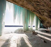 An Inside View of Grand Island Ice Curtains near Munising, Michigan by Craig Sterken