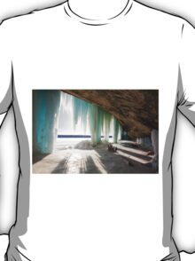 An Inside View of Grand Island Ice Curtains near Munising, Michigan T-Shirt