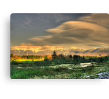 Light Fades on the Presidential Range Canvas Print