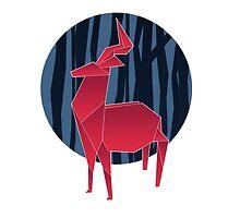 Deer in the woods by nizkat