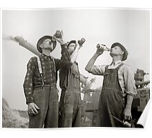 Farmers Drinking Beer, 1941 Poster