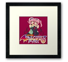 Momo & Nana - To love ru Darkness Framed Print
