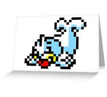 Pokemon 8-Bit Pixel Seel 086 Greeting Card