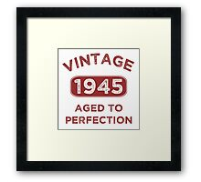 1945 Vintage Distressed Framed Print