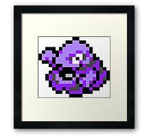 Pokemon 8-Bit Pixel Grimer 088 Framed Print