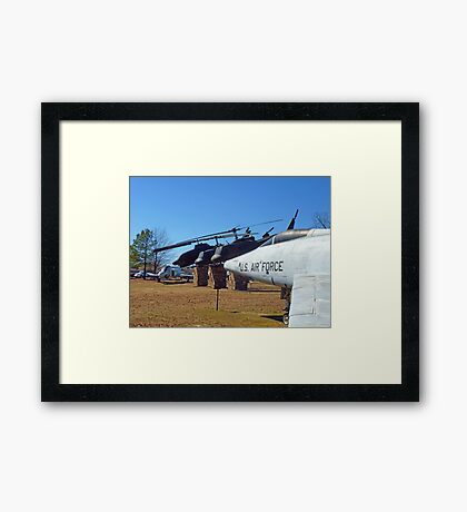 Helos and Fighter Planes Framed Print