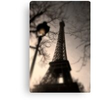 Tower Eiffel and Lamp Post Canvas Print