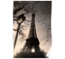 Tower Eiffel and Lamp Post Poster